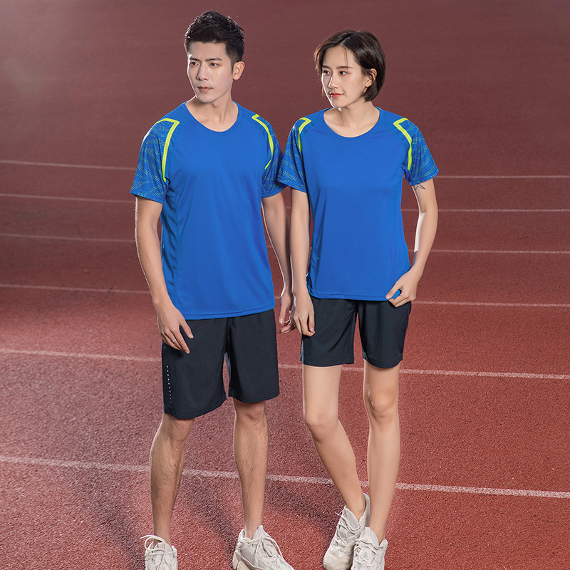 Summer short sportswear 2019 new large size men's and women's short-sleeved shorts running training casual couple suit