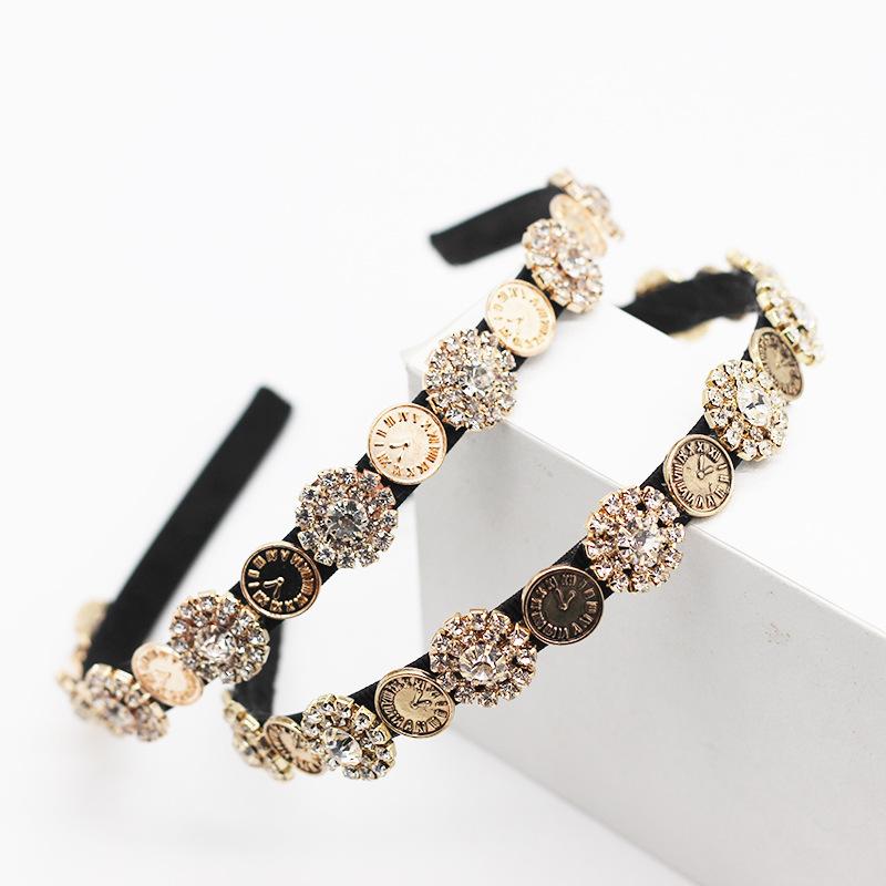 Baroque vintage flash diamond cheap headband wholesale NHWJ211356