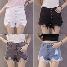 夏季女装高腰牛女装仔短裤 女式破洞韩式牛仔短裤 工厂直销
