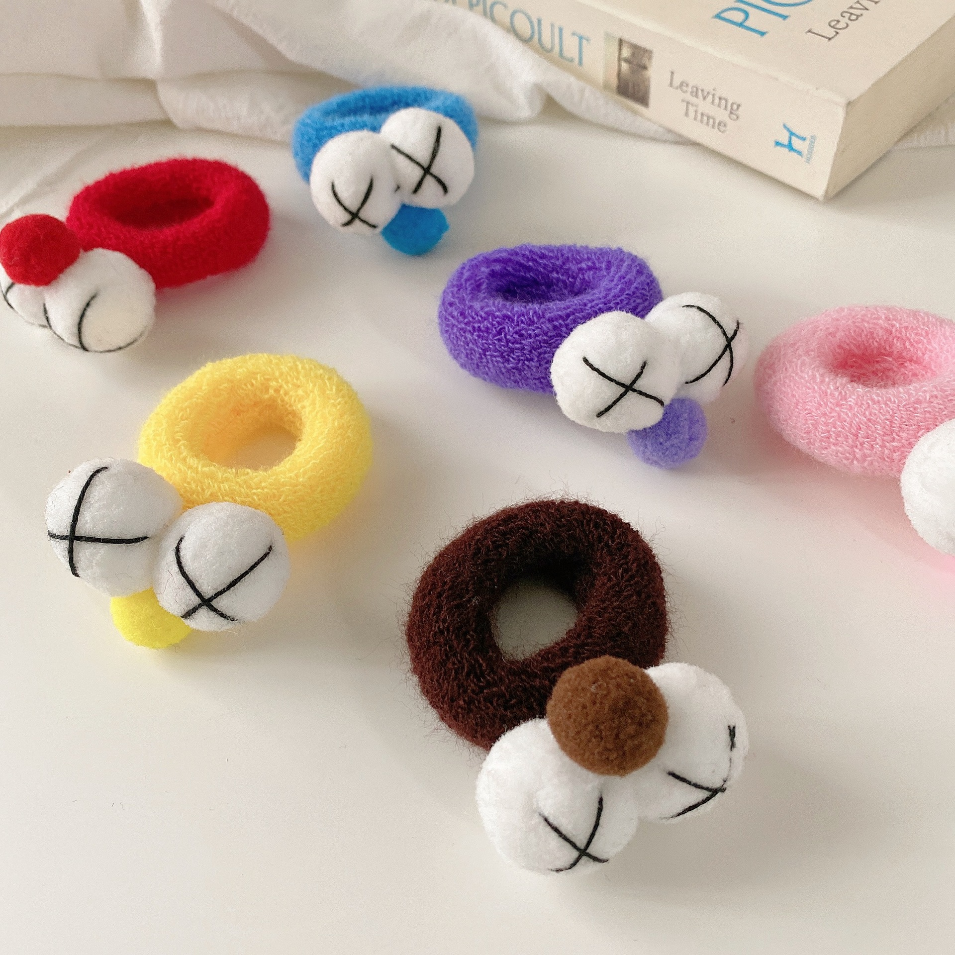 Korea new  cute big eyes cartoon tie  hair ring NHCQ274270