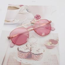 韓版復古多邊形潮款可配近視偏光太陽鏡夾片兩用男女UV400太陽鏡