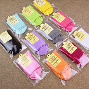 Women's tube socks, candy-colored cotton socks, women's socks, individually packaged, multi-color socks, women's summer stalls, supply