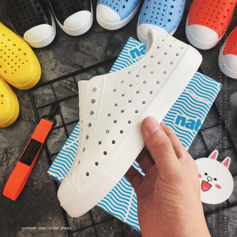 wnc native童鞋夏季休闲卡通洞洞鞋凉鞋镂空男童女童沙滩鞋批发