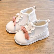 女童靴子2020秋冬新款中小童软底宝宝低筒短靴时装靴女孩公主棉靴