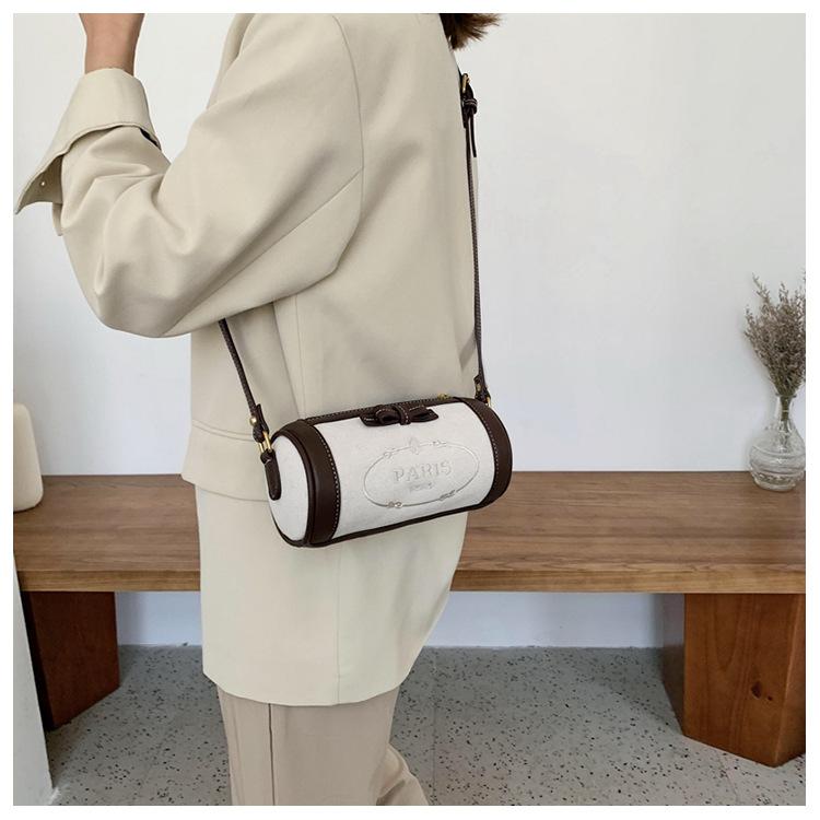 fashion cylinder shoulder messenger bag NHJZ316029