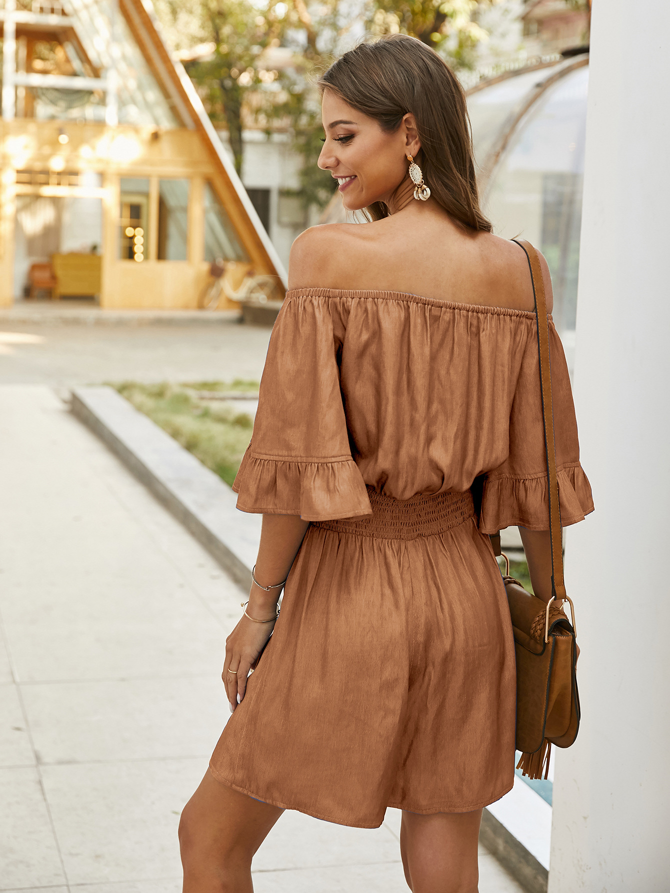 fashion one-shoulder solid color casual jumpsuits NSKA1584
