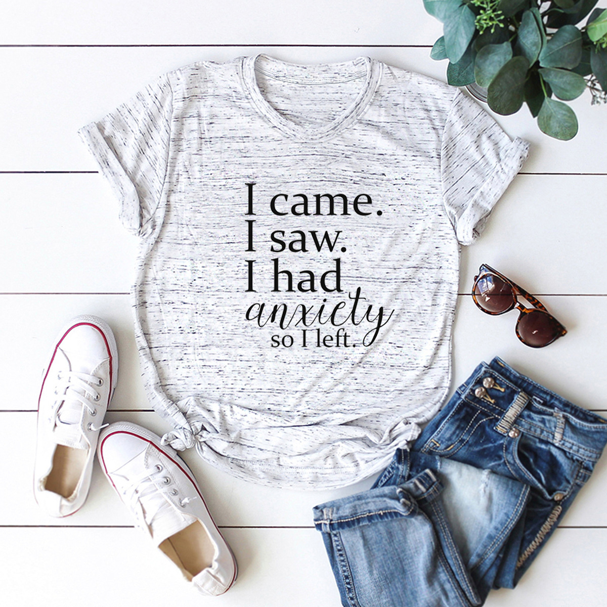 hot Slim Comfortable Casual Large Size Short Sleeve Women's T-shirt NSSN868