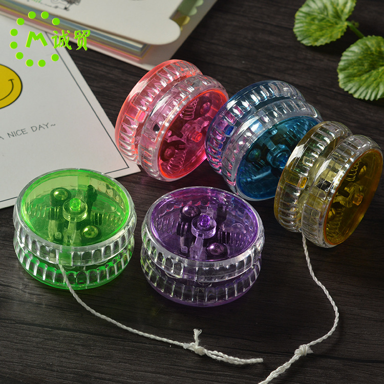 led闪光溜溜球跨境儿童发光悠悠球塑料带离合拉线yoyo球加工定制