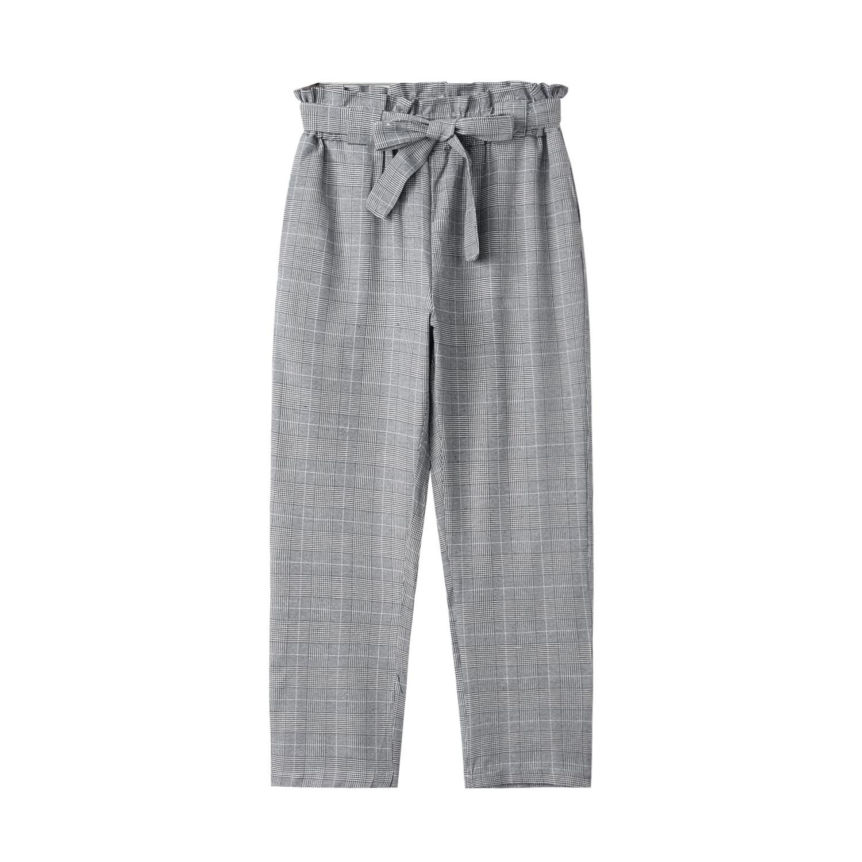 high-waist all-match casual trousers feet women long pants NSYF1837