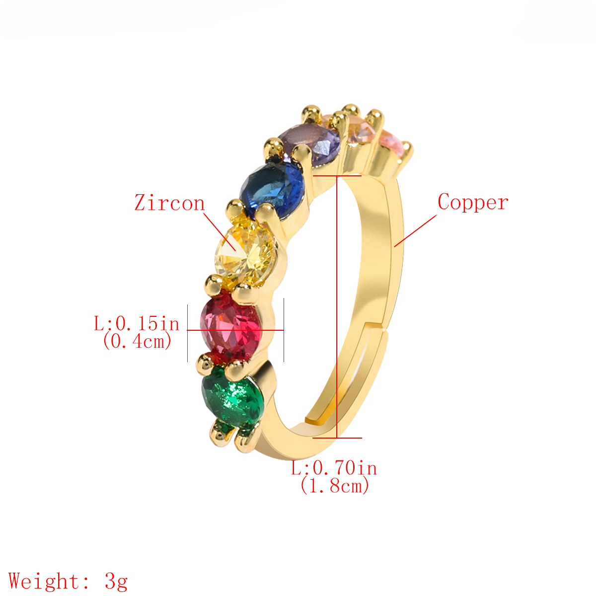 Copper Micro Inlaid Color Zircon Couple Ring Opening Adjustable Bracelet Wholesale NHJE205949