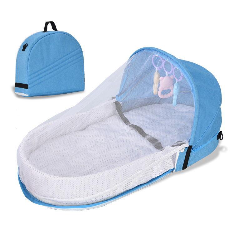 婴儿床 新生宝宝仿生隔离床 防蚊折叠床中床 便捷户外旅行床 批发