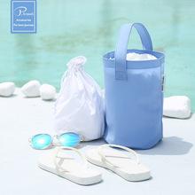 P.travel韩版沙滩防水PVC水桶包女时尚游泳手提包小清新批发定制