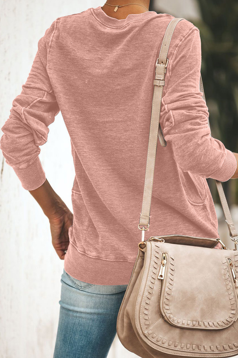 autumn new loose casual cartoon pattern long-sleeved round neck women's sweater NSSI2347