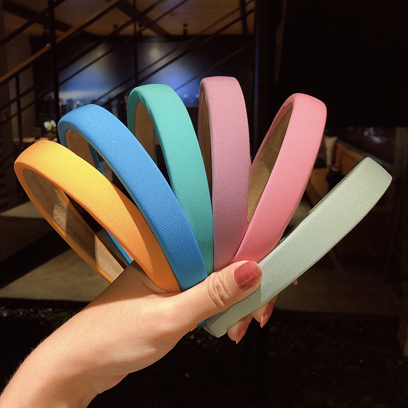 Candycolored widebrimmed headband Korean summer new headband hair accessories simple wild hair card wild headwear wholesale nihaojewelry NHNA223580