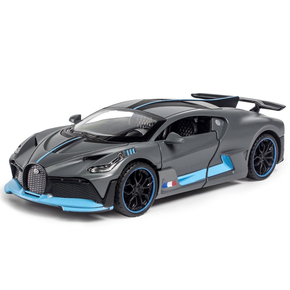 [散装]1:32仿真布加迪DIVO儿童小跑车模型玩具声光合金回力汽车模