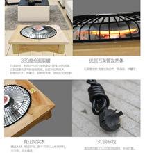 新款冬季实木烤火盆无极电烤炉实木取暖器家用宿舍办公暖脚烤衣