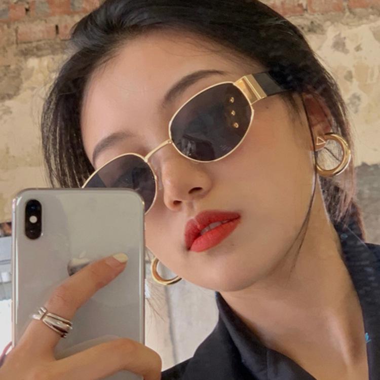 fashion simple oval sunglasses NHKD317659