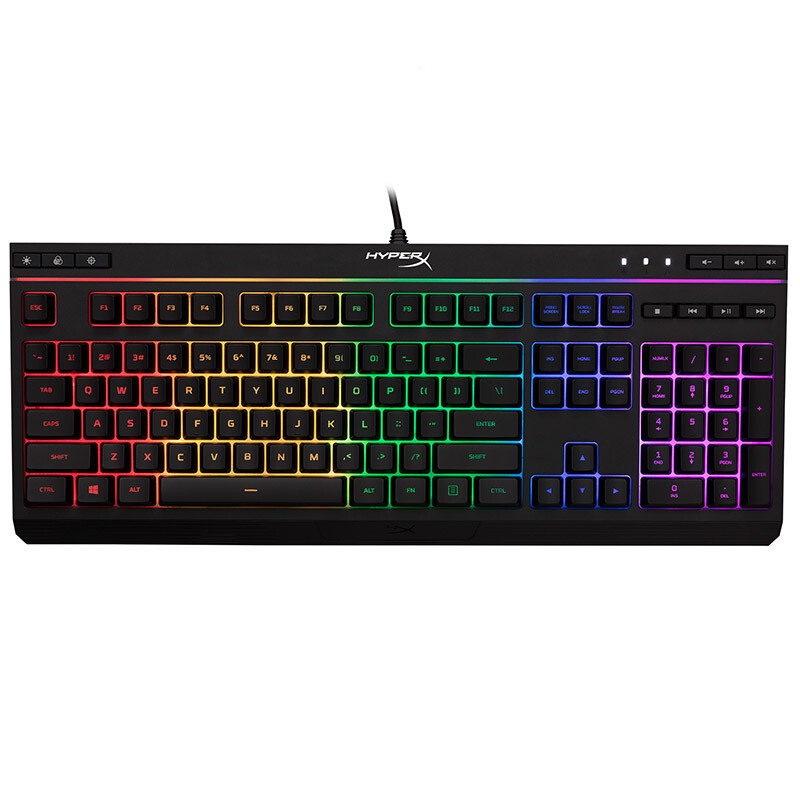 Kingston HyperX Alloy Aloi Phantom RGB backlight 104-key full size keyboard