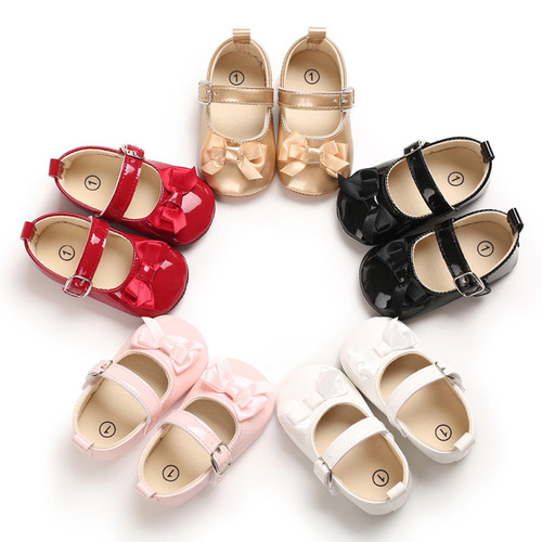 Baby prewalker toddlers shoes girl bowknot lovely princess baby sandals month walking shoes