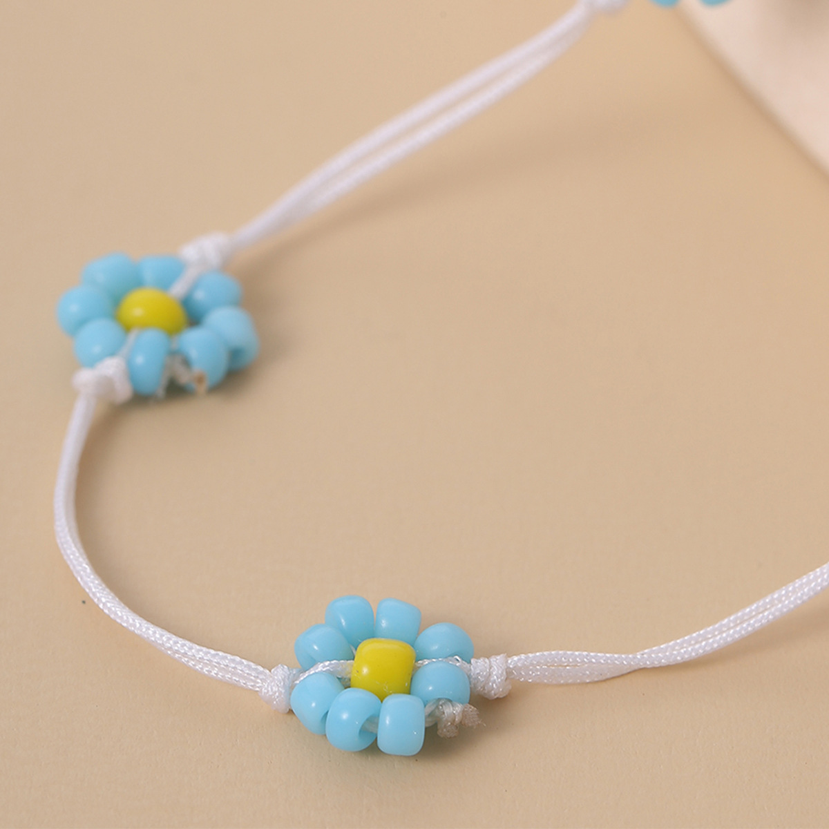 fashion jewelry retro ethnic color beaded necklace creative rice bead woven flower geometric necklace wholesale nihaojewelry NHXR238230