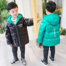 2020男女兒童裝冬裝羽絨服韓版中長款輕薄保暖印花棉衣代理代發潮