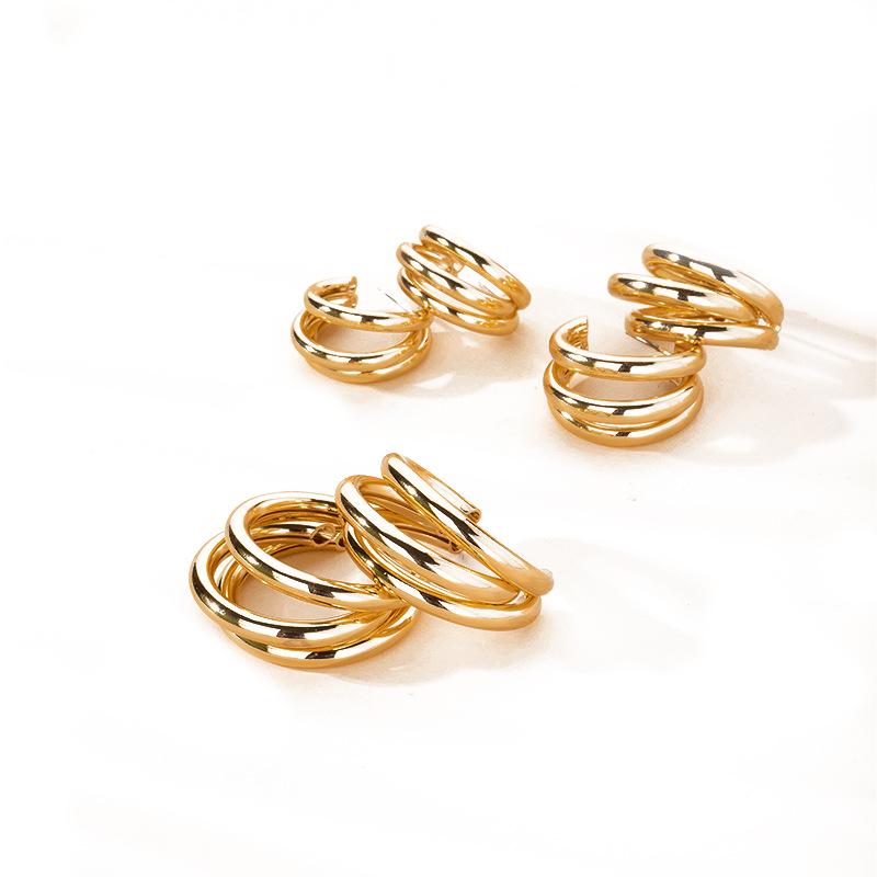 simple retro fashion metal earring jewelry wholesale NHAI254511