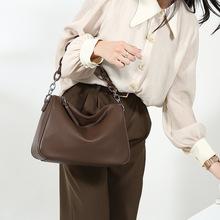 真皮女包大容量包包2020新款潮链条包小众设计简约质感包单肩大包