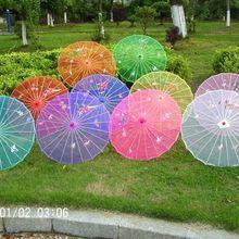 广场舞蹈道具伞走秀模特拍照工艺绸布表演出透明娟纱伞