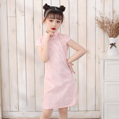 Cheongsam for kids Chinese girl Chinese Dress cheongsam children Chinese Dress baby pink and tender cheongsam dress for children