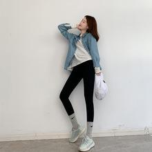 鲨鱼皮打底裤女裤外穿秋冬季加绒紧身瘦腿芭比压力弹力加绒瑜伽裤