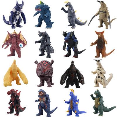 儿童玩具软胶怪兽哥斯模型拉玛伽大蛇三头恐龙基多拉地摊货源跨境