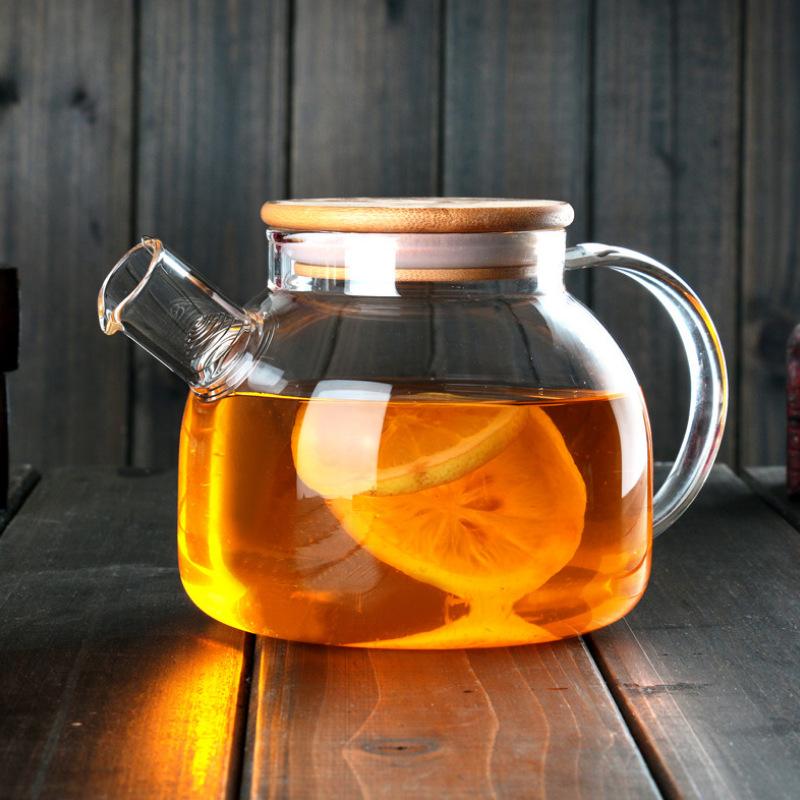 批发透明玻璃冷水壶家用水杯果汁壶 加厚扎壶 花茶壶流水壶