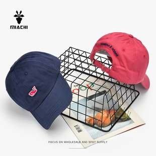 2020 summer new Korean version of the small whale soft top embroidery baseball cap for men and women outdoor sun hat