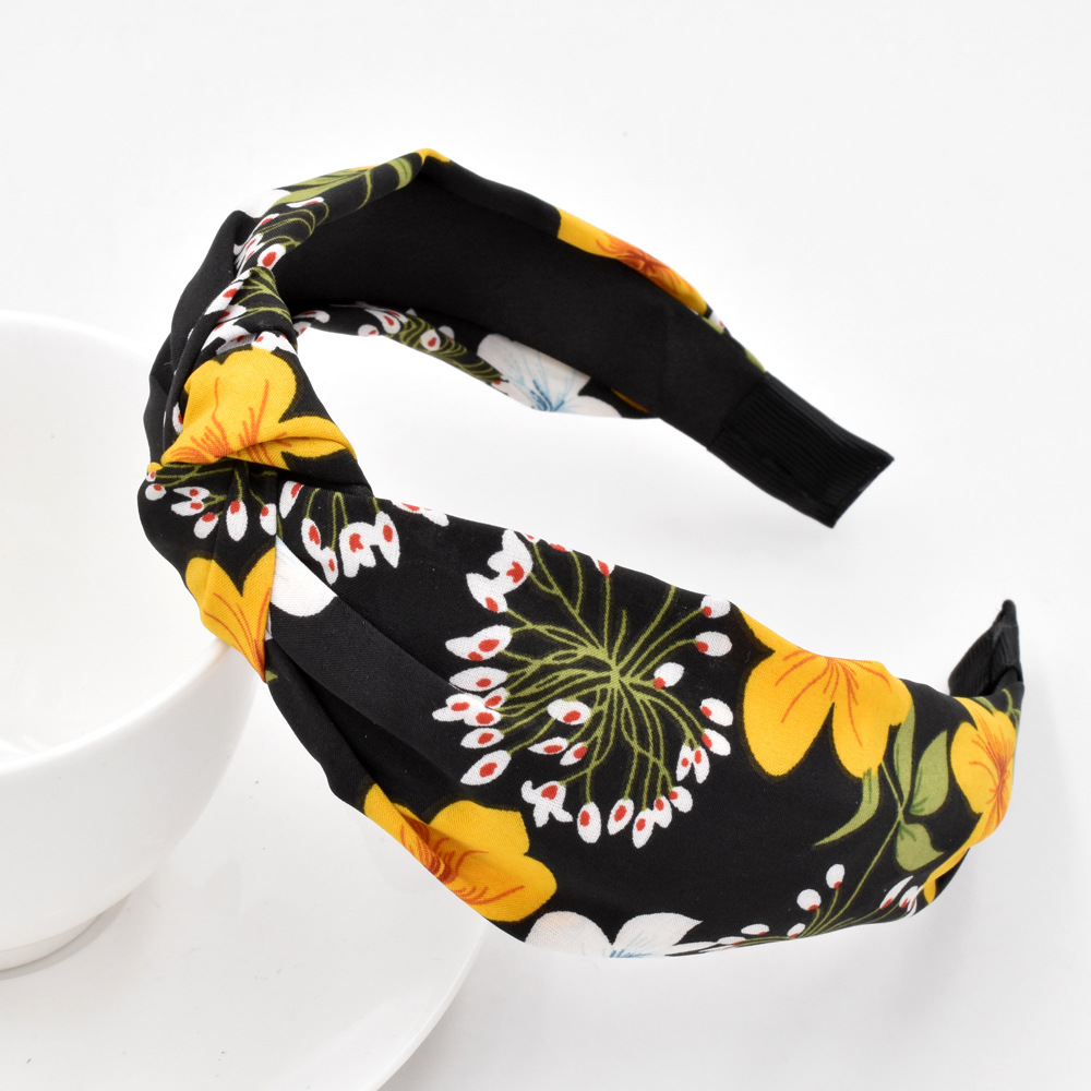 Flower Fabric Fashion Hair Band Knotted Flower Head Buckle Hair Accessories wholesale NHCL249836