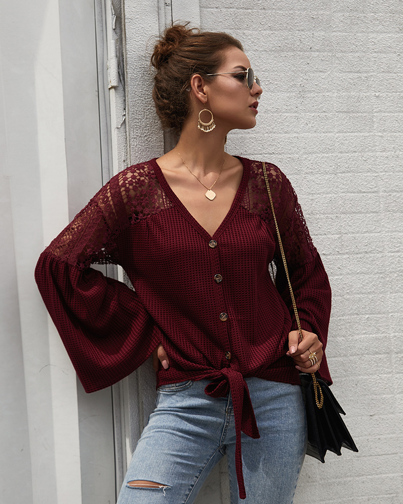 women's autumn and winter new women's long-sleeved sweater pure color  NSKA300