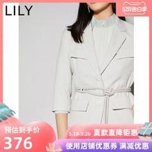 2020春新款氣質工裝感多口袋系腰繩七分袖西裝女120130C2237