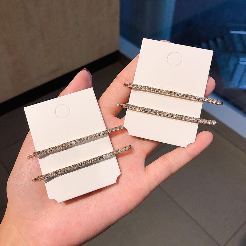 Korean new fashion simple super flash diamond set hairpin set wholesale NHNA212658