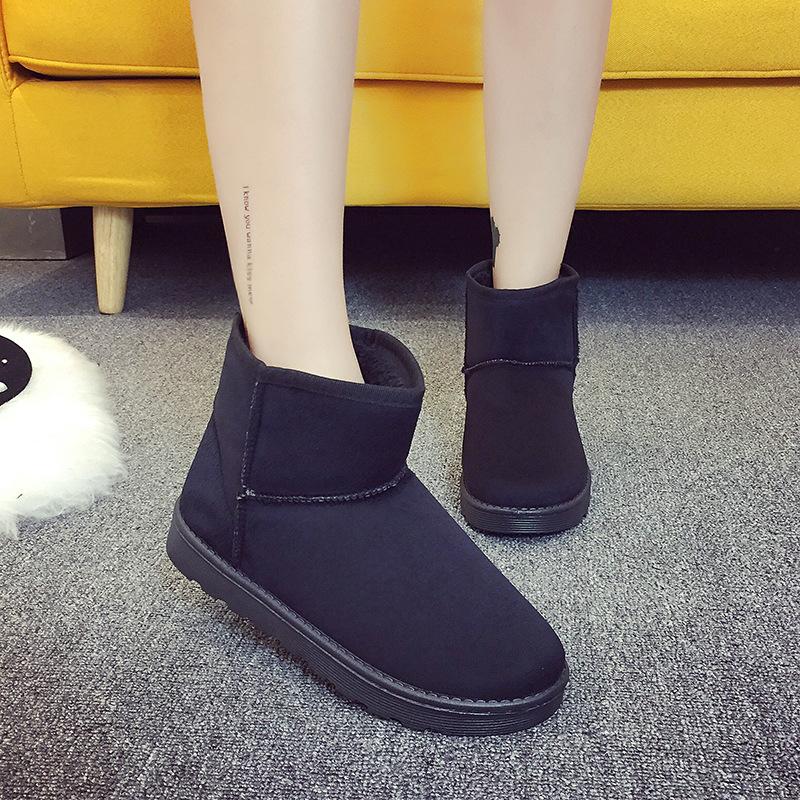 雪地靴女2020秋冬新款短筒学生雪地棉鞋平底保暖加绒女靴子棉靴女