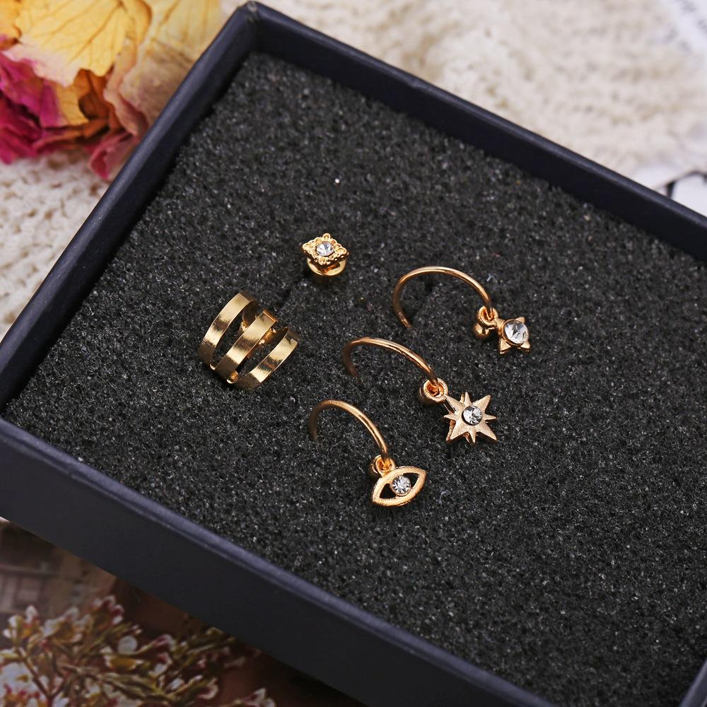 Eyes Starlight Stud Earrings Set of 5 Creative Retro Punk Style Earrings for Women Wholesale NHPJ206672