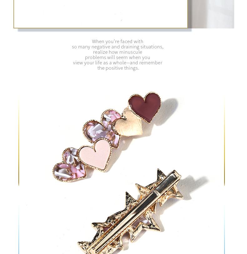 Korean  fashion duckbill clip acrylic side clip NHGE272185