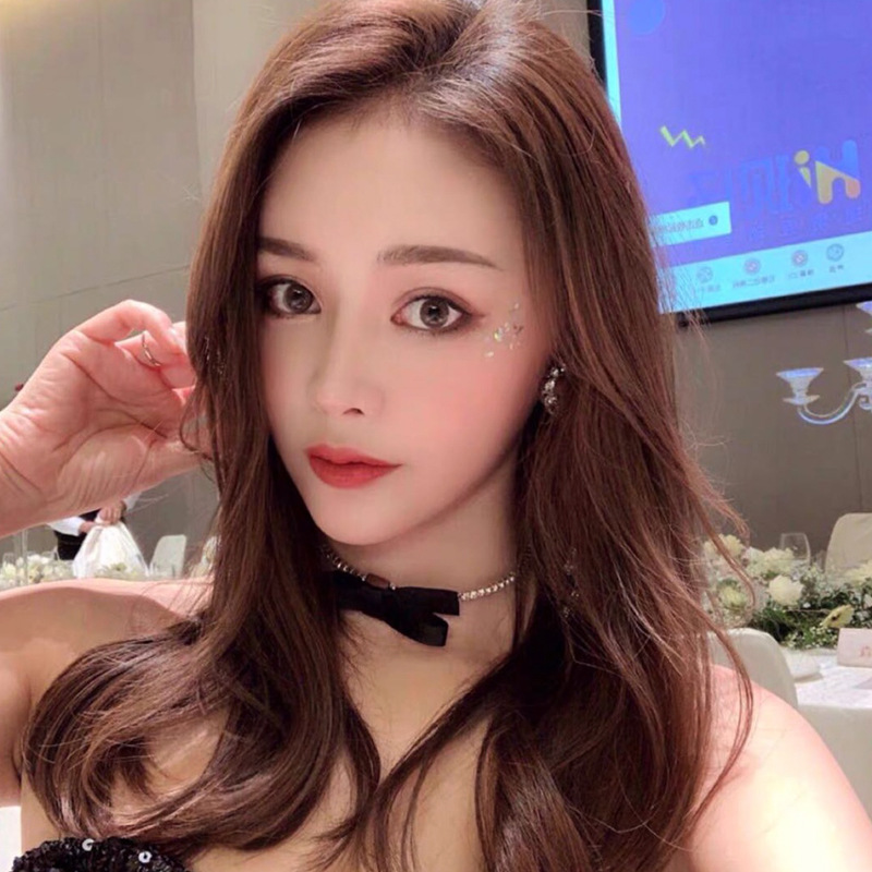 Korean new bow full diamond elastic trend flashing simple alloy necklace  NHYQ256337