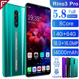 Spot cross-border mobile phone explosion rino3 pro 5.8 inch 512+4G Android smartphone wholesale default 4+64