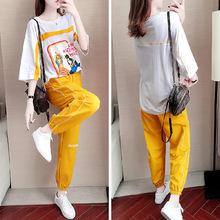 835#短袖夏裝新款運動套裝女時尚韓版寬松休閑學生