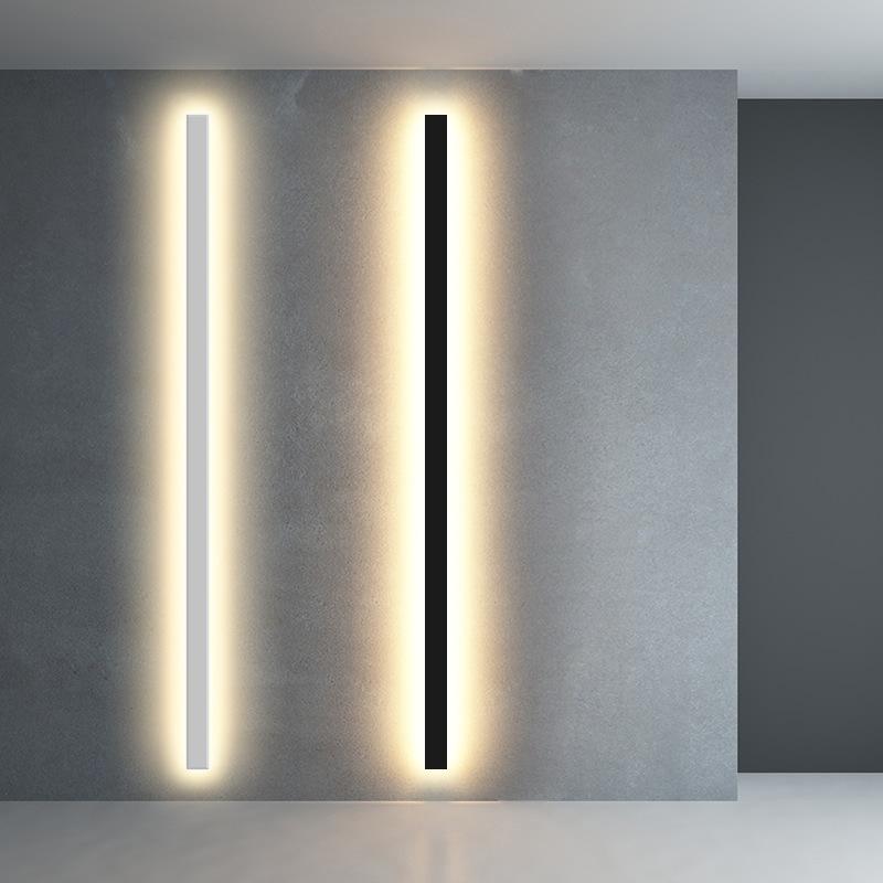 极简长条壁灯简约过道客厅卧室床头灯电视背景墙壁灯楼道线性led