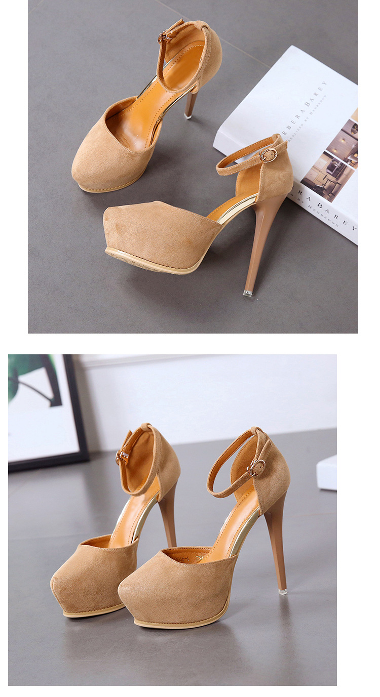 New women's shoes, European and American word buckle, stiletto heels, high-heeled hollow single shoes NHSO200271