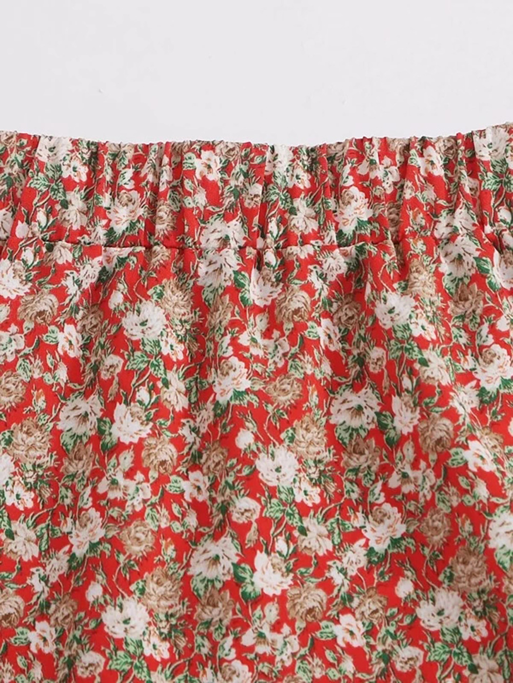 summer new holiday style floral skirt skirt fungus lotus leaf beach chiffon skirt NSDF1523