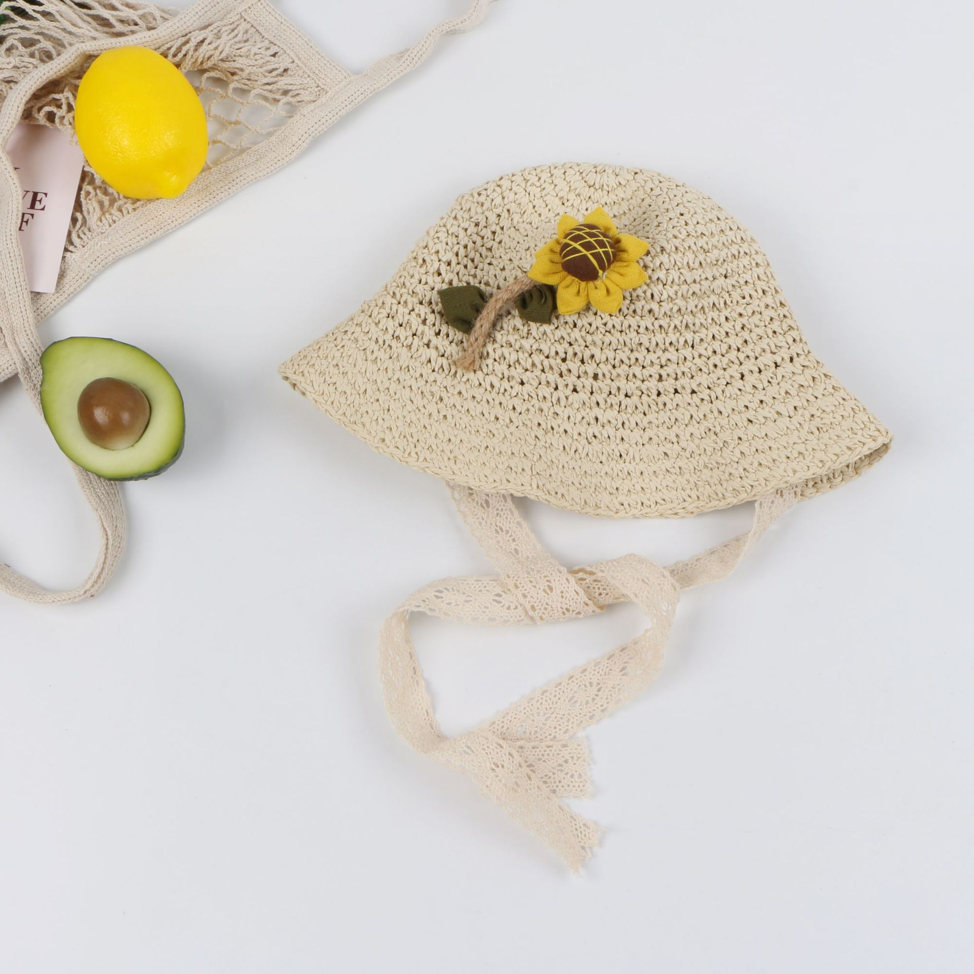 Spring and summer new straw hat child princess sun hat Korean female baby beach sun hat NHTQ206915