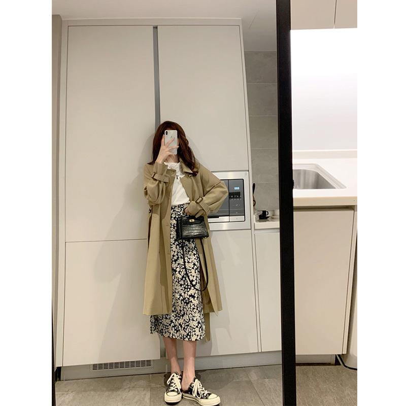 本期王炸风衣 高阶面料让你气质满分 韩版复古双排扣长短款外套秋