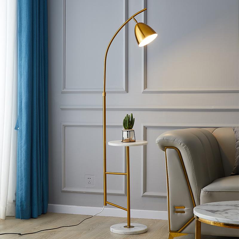落地灯现代简约北欧客厅卧室遥控无线充电茶几角落床头落地台灯