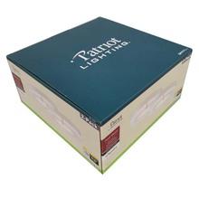 彩盒厂定制加厚瓦楞LED灯饰配件包装订做折叠过胶翻盖牛皮纸坑盒